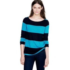 J. Crew Women's Rugby Stripe Boatneck Top